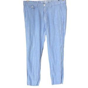 Polo Ralph Lauren light blue linen casual pants 32